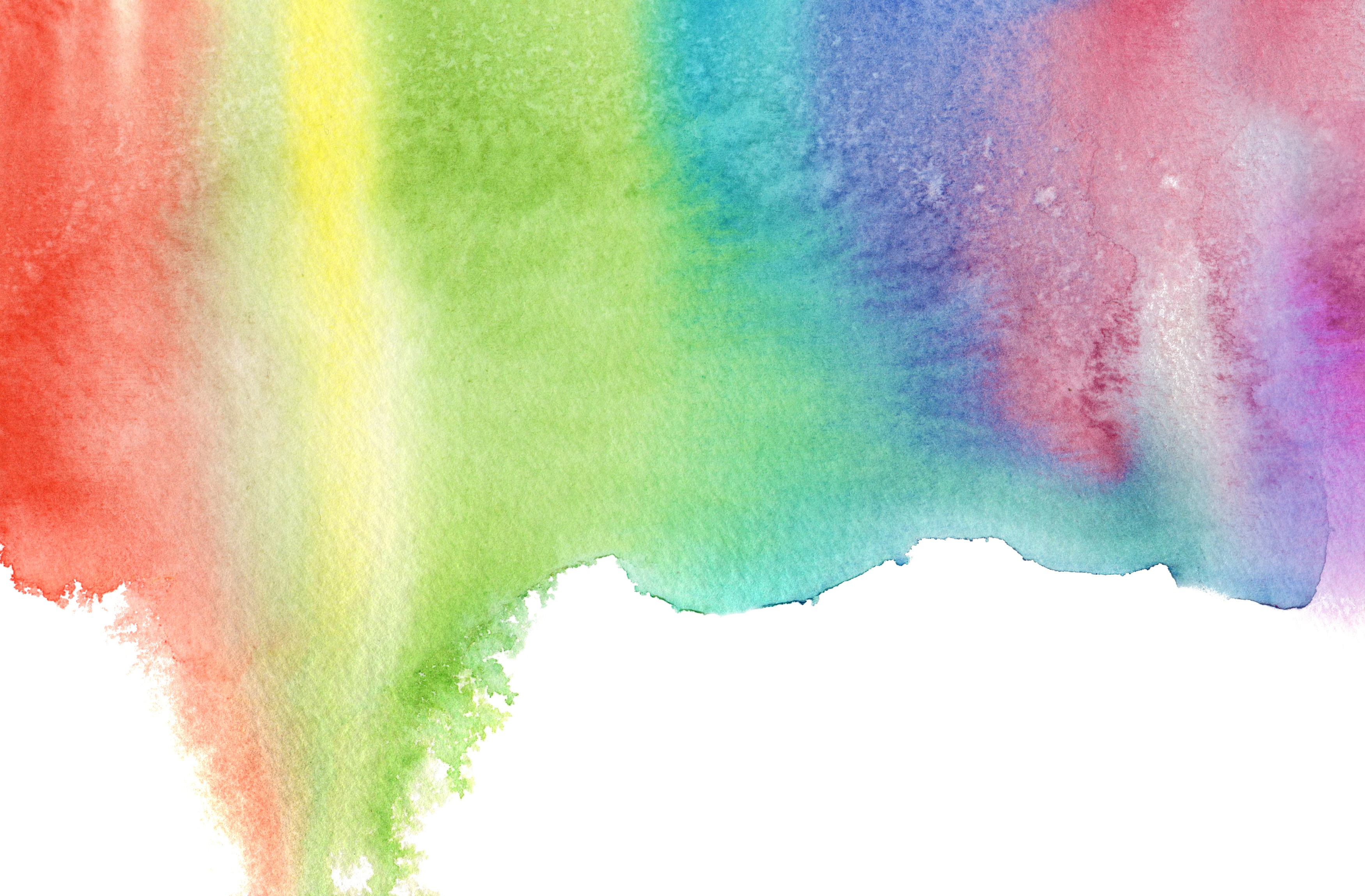 Rainbow watercolor dripping
